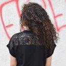 Damen Oversize-T-Shirt with lace Lacrimosa