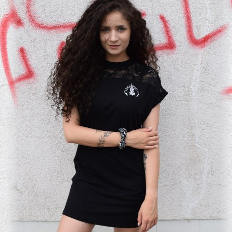 Womens T-Shirt dress with lace